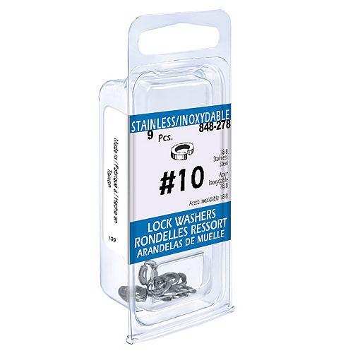 Paulin #10 18.8 Stainless Steel Lock Washers (9 Pcs)