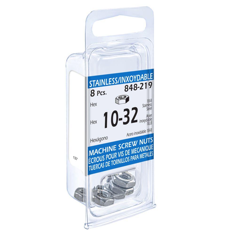 10-32 Hex Machine Sc Nut Ss 848-219 in Canada