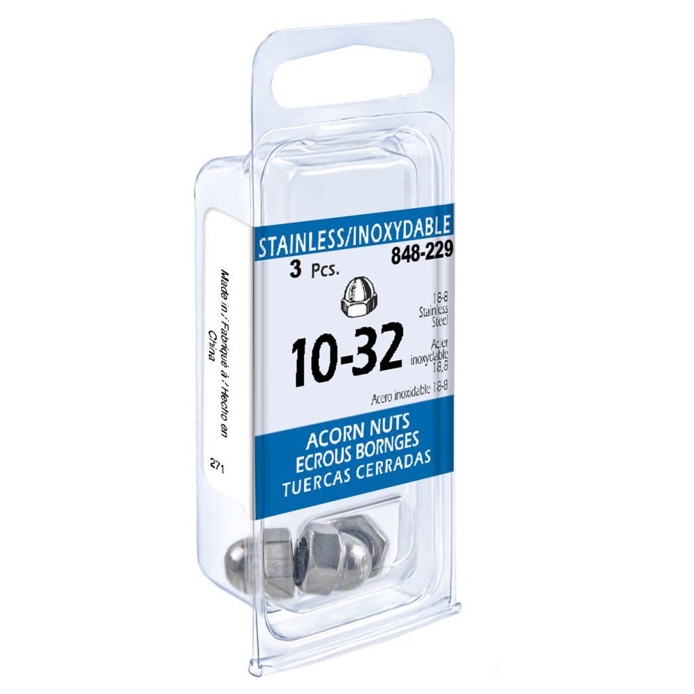 10-32 Acorn Nut 18.8 Stainless Steel