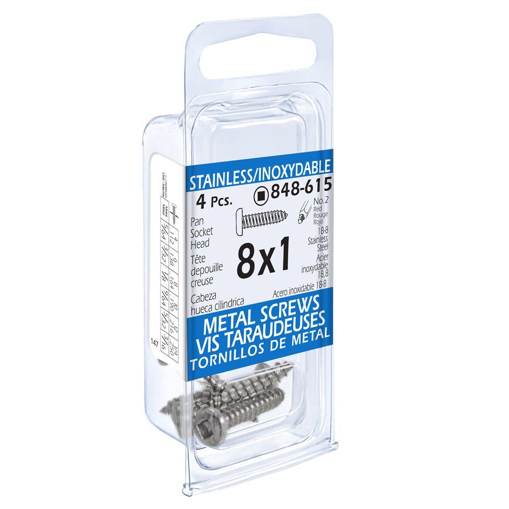 8x1 vis taraudeuses depouille creuse inox