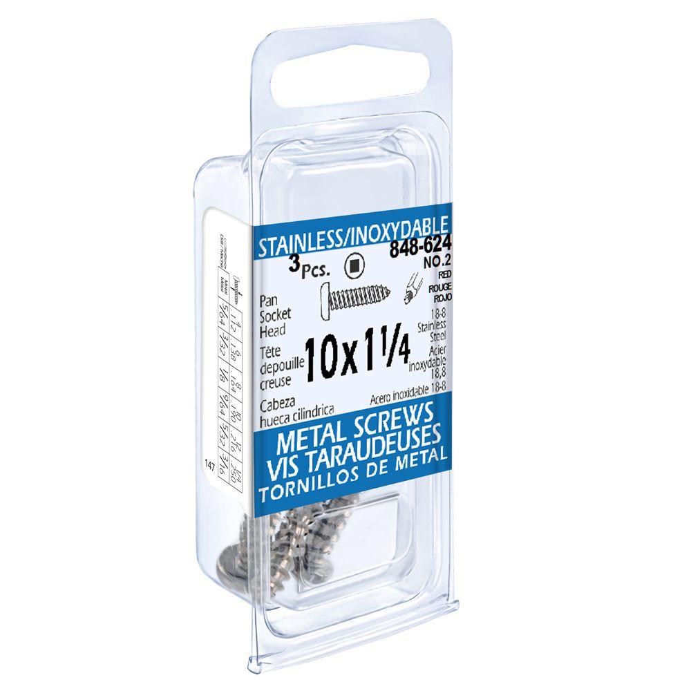 10X1-1/4 Pan Skt Hd Tapping Scr Ss