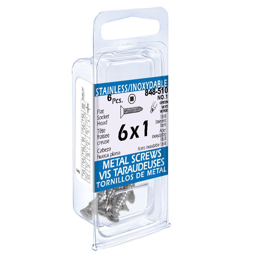 6X1 Flat Skt Hd Tapping Scr Ss