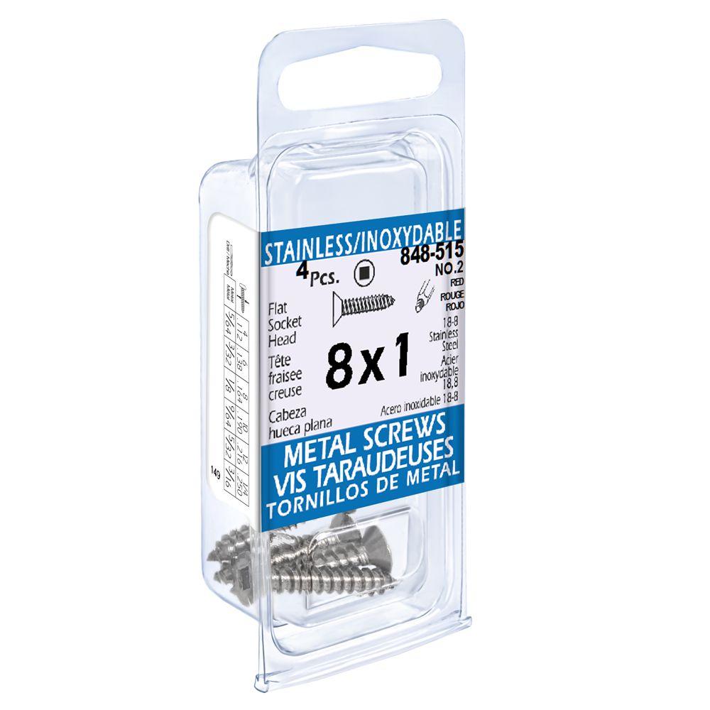 8X1 Flat Skt Hd Tapping Scr Ss