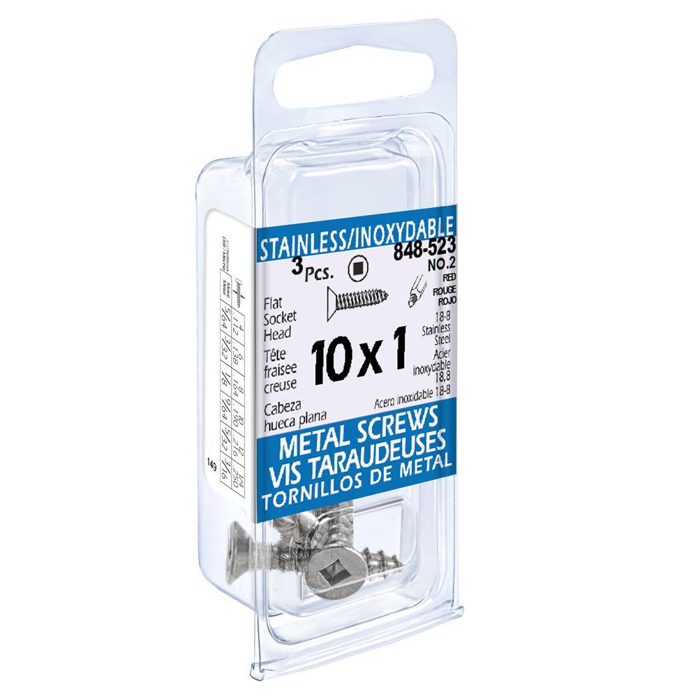 10X1 Flat Skt Hd Tapping Scr Ss