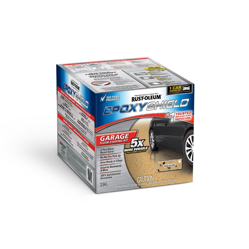 Rustoleum epoxyshield rev tement pour plancher de garage - Revetement de plancher de garage en pvc ...