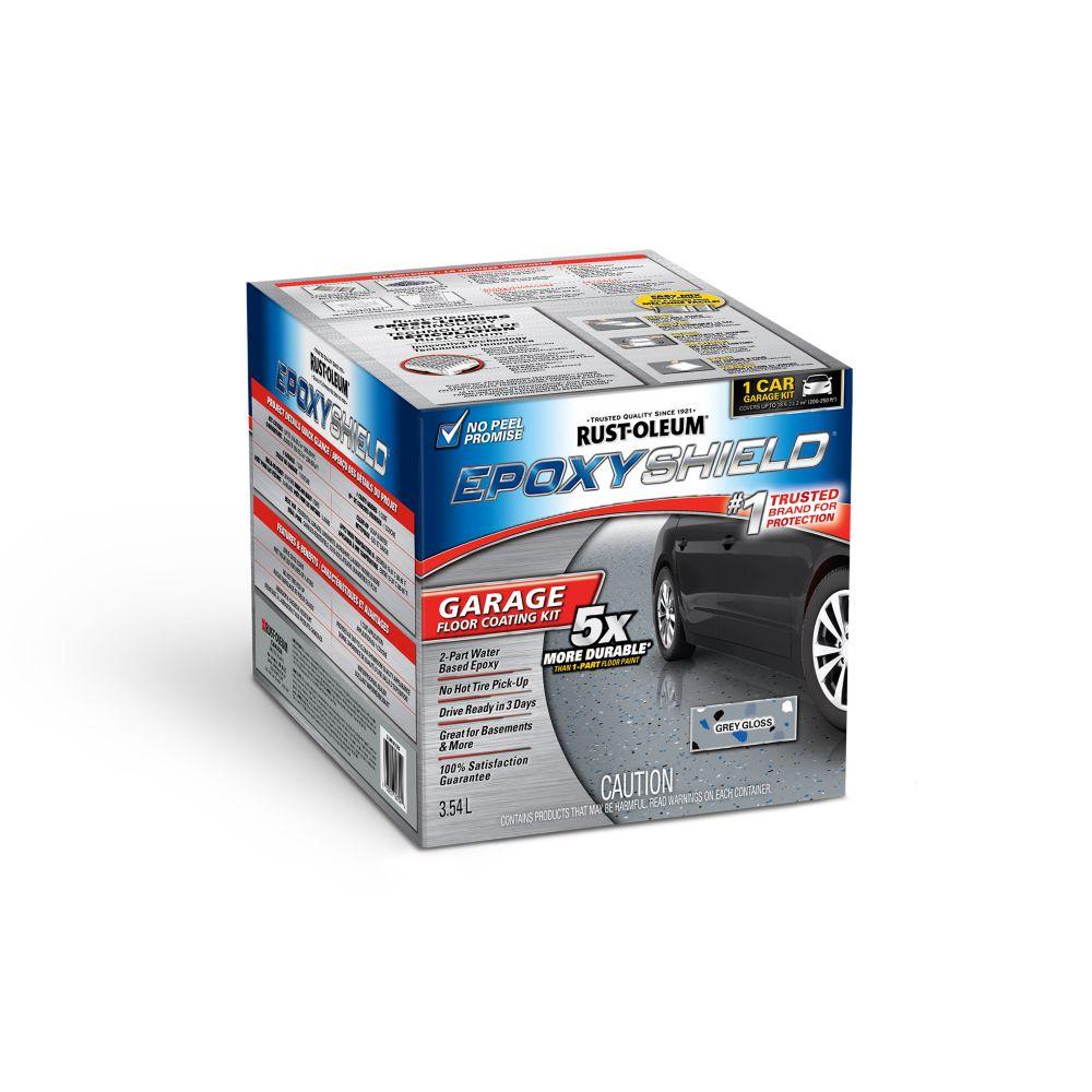 Epoxyshield Revêtement Pour Plancher De Garage Gris Semi-Lustr