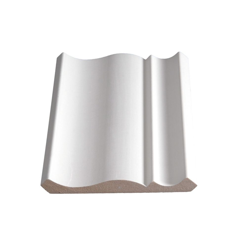 Primed Fibreboard Crown 9/16 In. x 5-1/4 In. (Price per linear foot)
