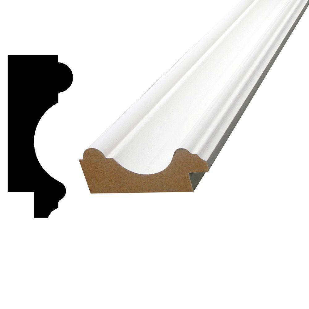 Alexandria Moulding Primed Fibreboard Chair Rail 15/16 In