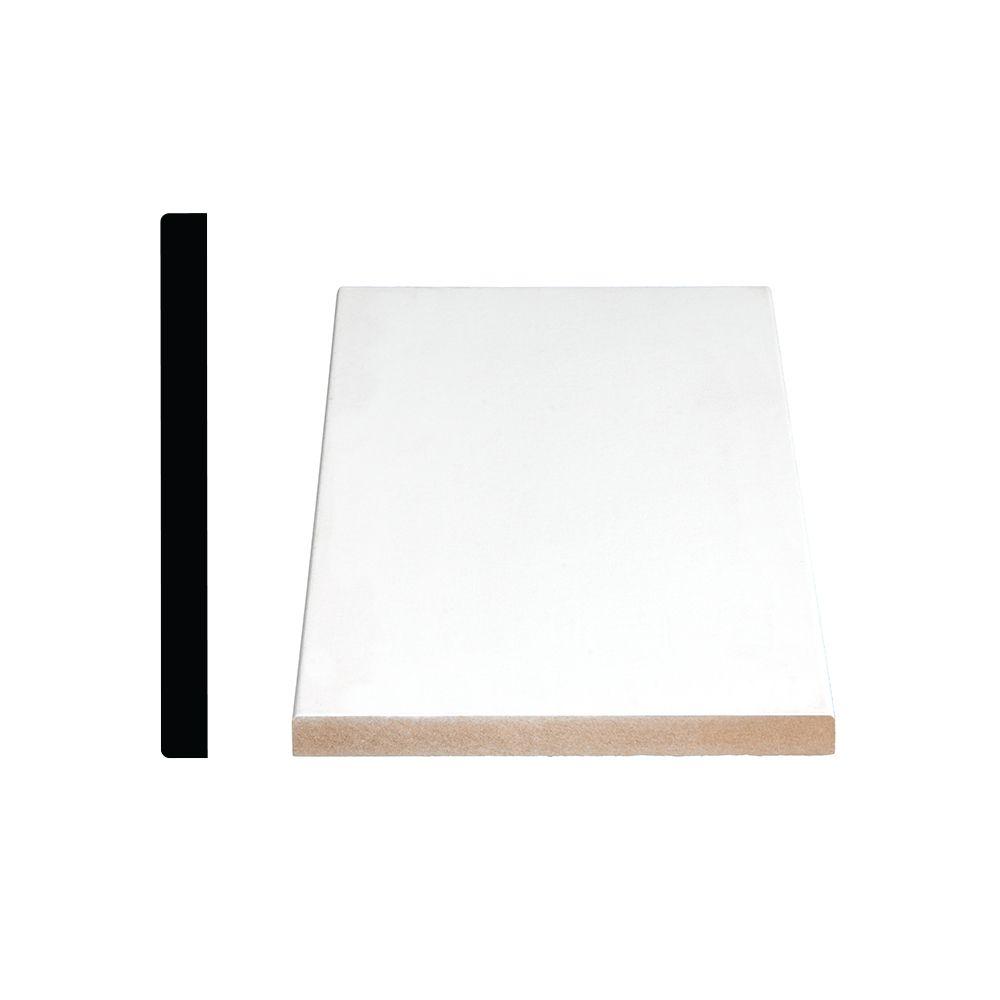 Primed Fibreboard S4Se2E Base 1/2 In. x 5-1/2 In. (Price per linear foot)