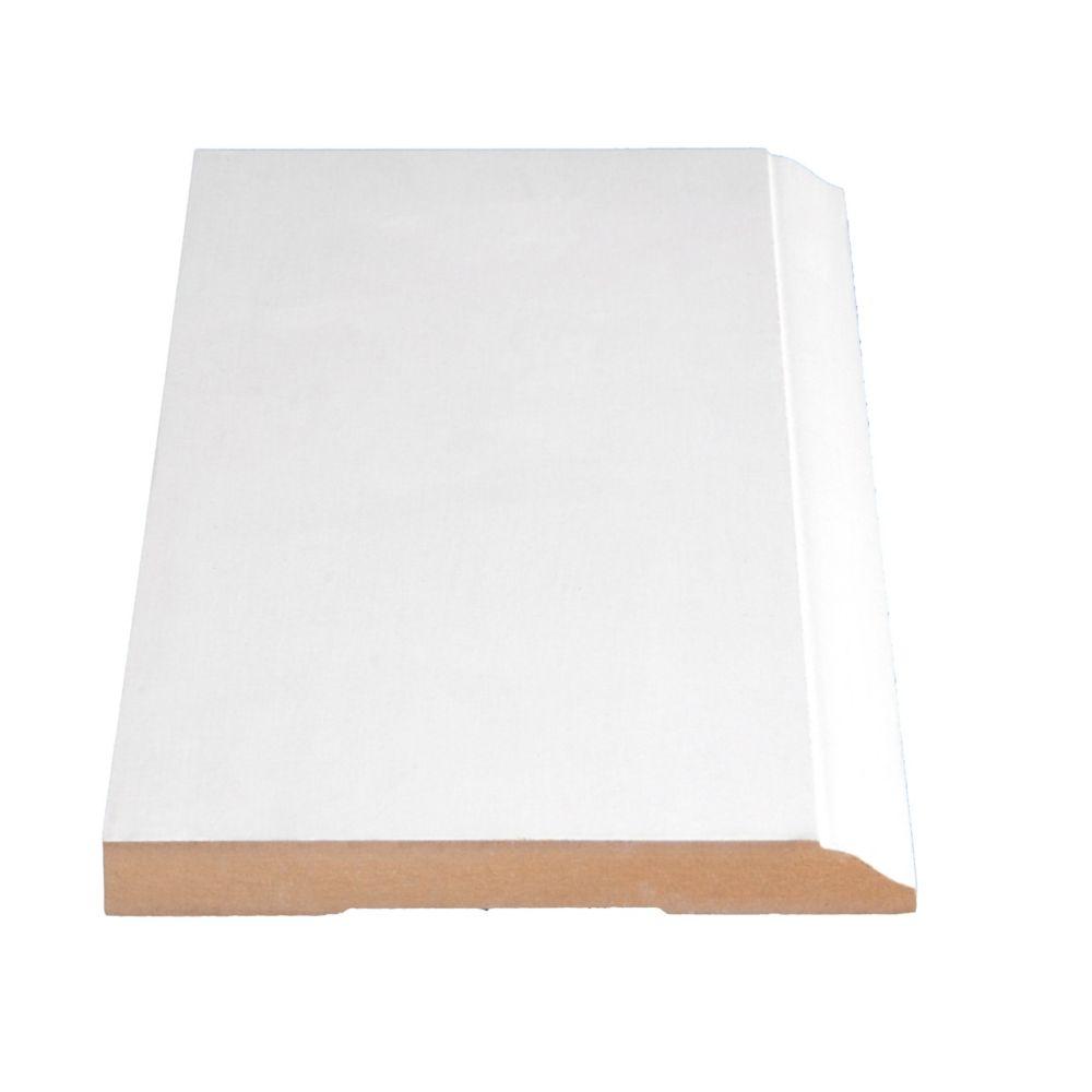 Primed Fibreboard Base 9/16 In. x 5-1/4 In. (Price per linear foot)