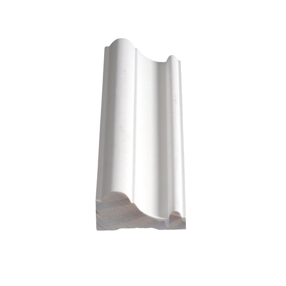 Cimaise de protection jointée et apprêtée, en pin - 1 1/8 x 2 7/16 (Prix par pied)