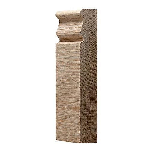 Oak Plinth Block 7/8 In. x 2-3/4 In. x 6 Ft.