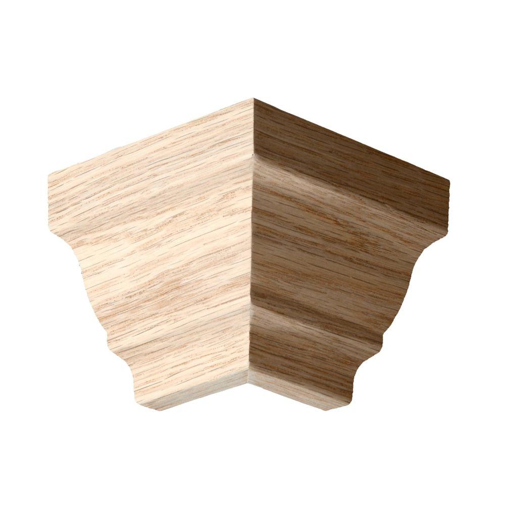 Oak Outside Crown Corner - For Crown #00051