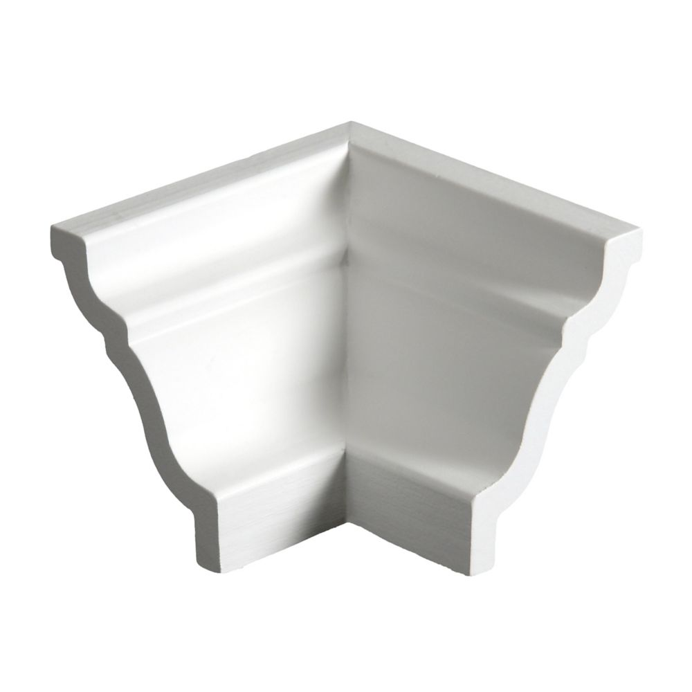 Primed Finger Jointed Hemlock Inside Crown Corner 5/8 Inches x 3-1/4 Inches