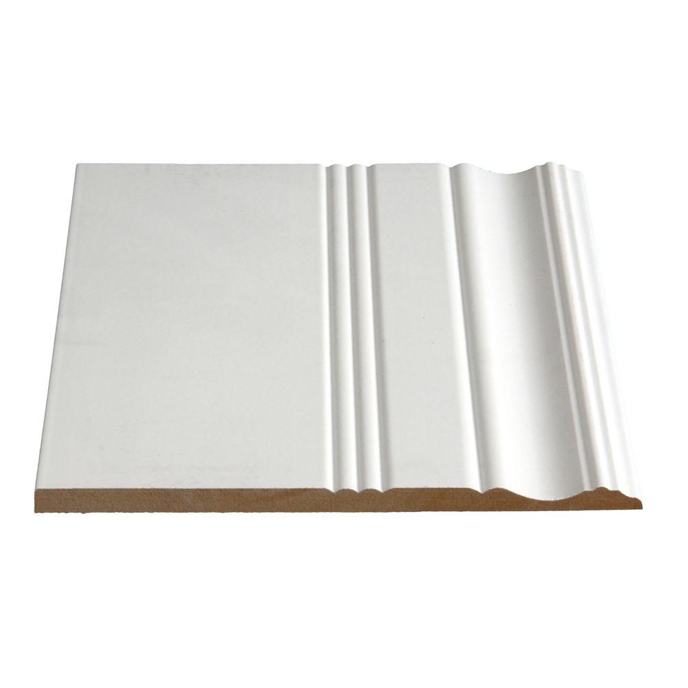 Primed Fibreboard Colonial Base 3/8 In. x 8-1/8 In. (Price per linear foot)