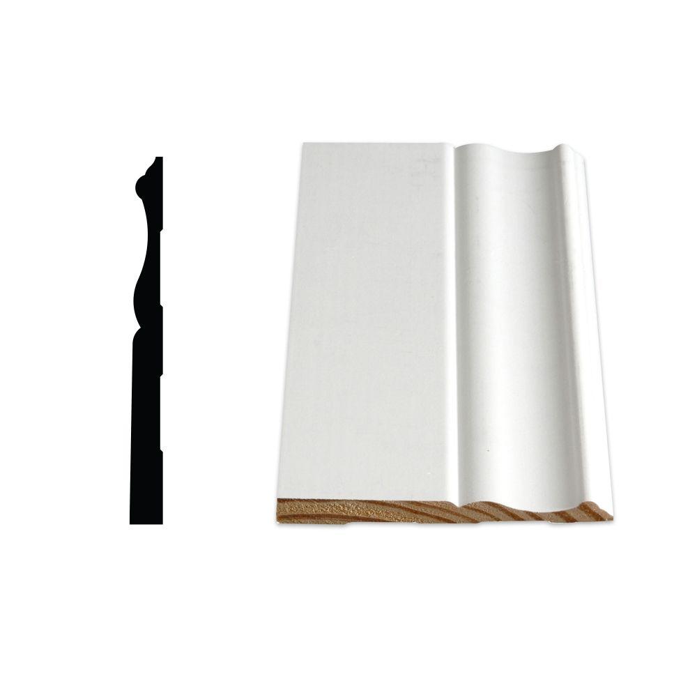 Plinthe coloniale apprêtée et jointée, en pin - 3/8 x 4 1/8 (Prix par pied)