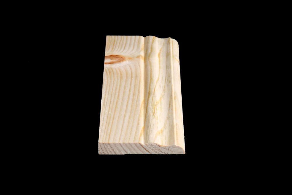 Plinthe de type colonial en pin noueux 9/16 x 3 1/2
