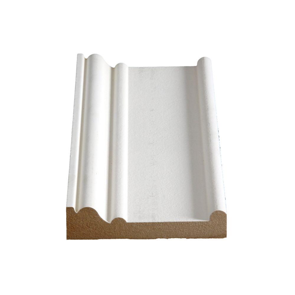 Primed Fibreboard Boston Header/Architrave 1-1/16 x 4-1/2 (Price per linear foot)