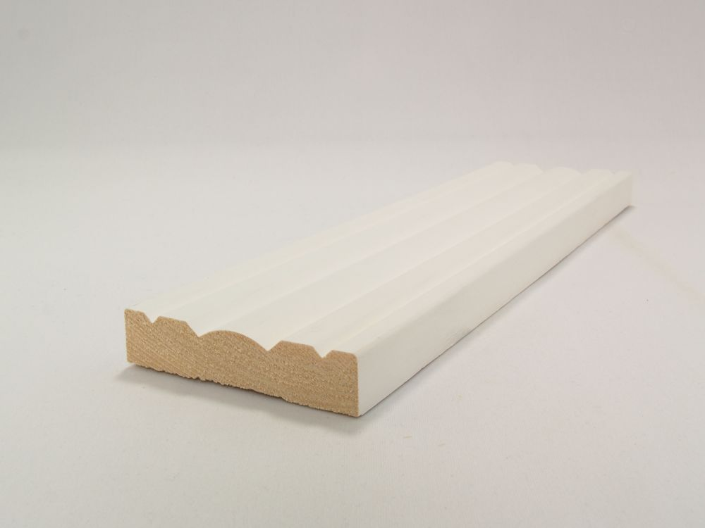 Primed Finger Jointed Pine Victorian Casing 11/16 x 3-1/8 Inches x 7 Feet