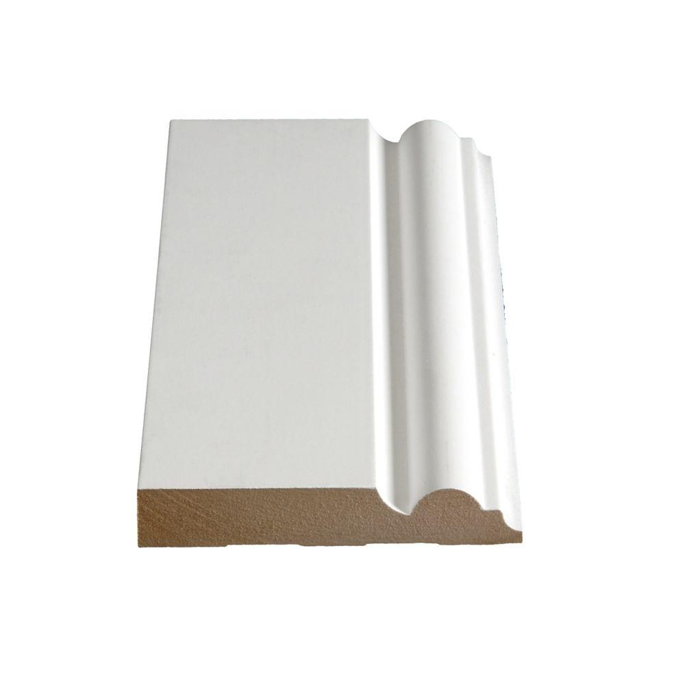 Plinthe apprêtée en MDF 683 - 3/4 x 4 1/2 (Prix par pied)