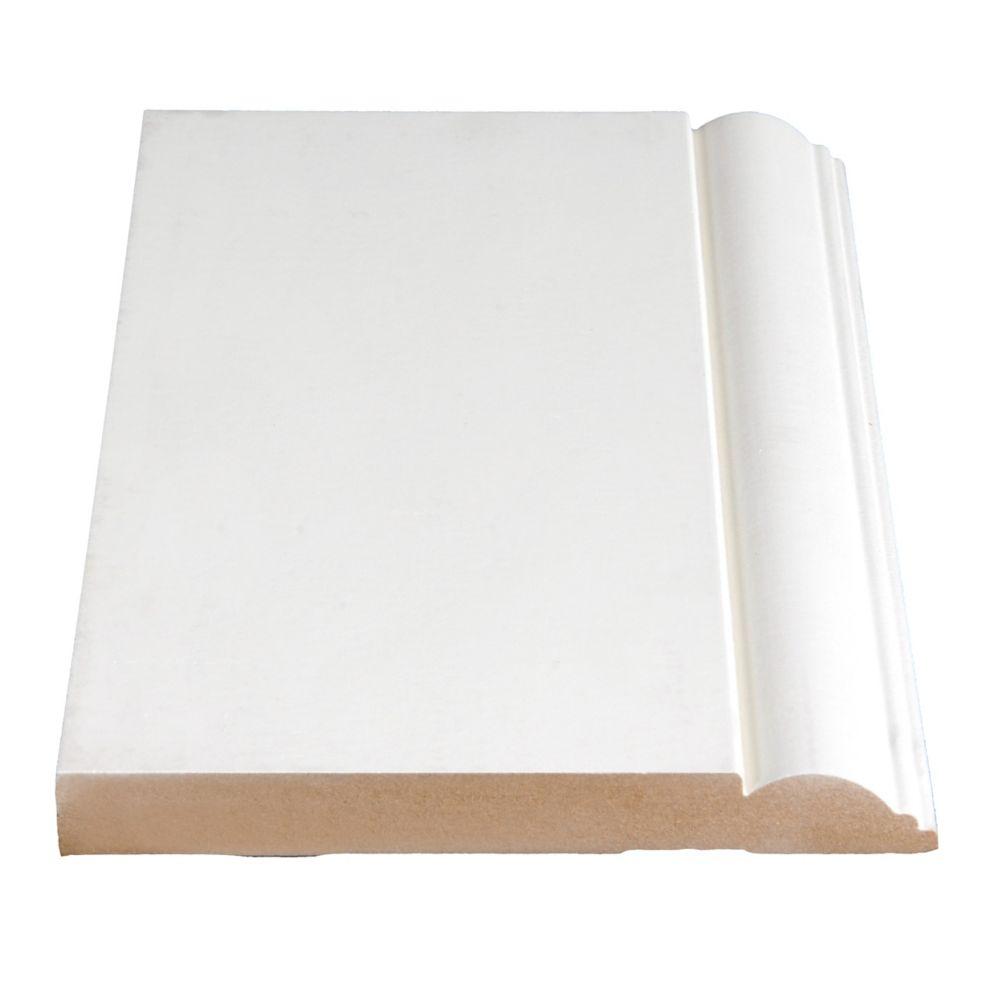 Primed Fibreboard Base 5/8 In. x 5-15/16 (Price per linear foot)