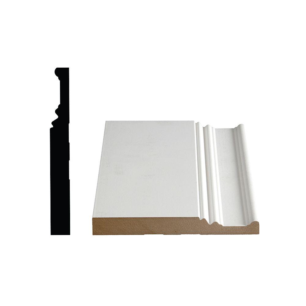 Plinthe apprêtée en MDF 674 - 7/8 x 7 3/8 (Prix par pied)