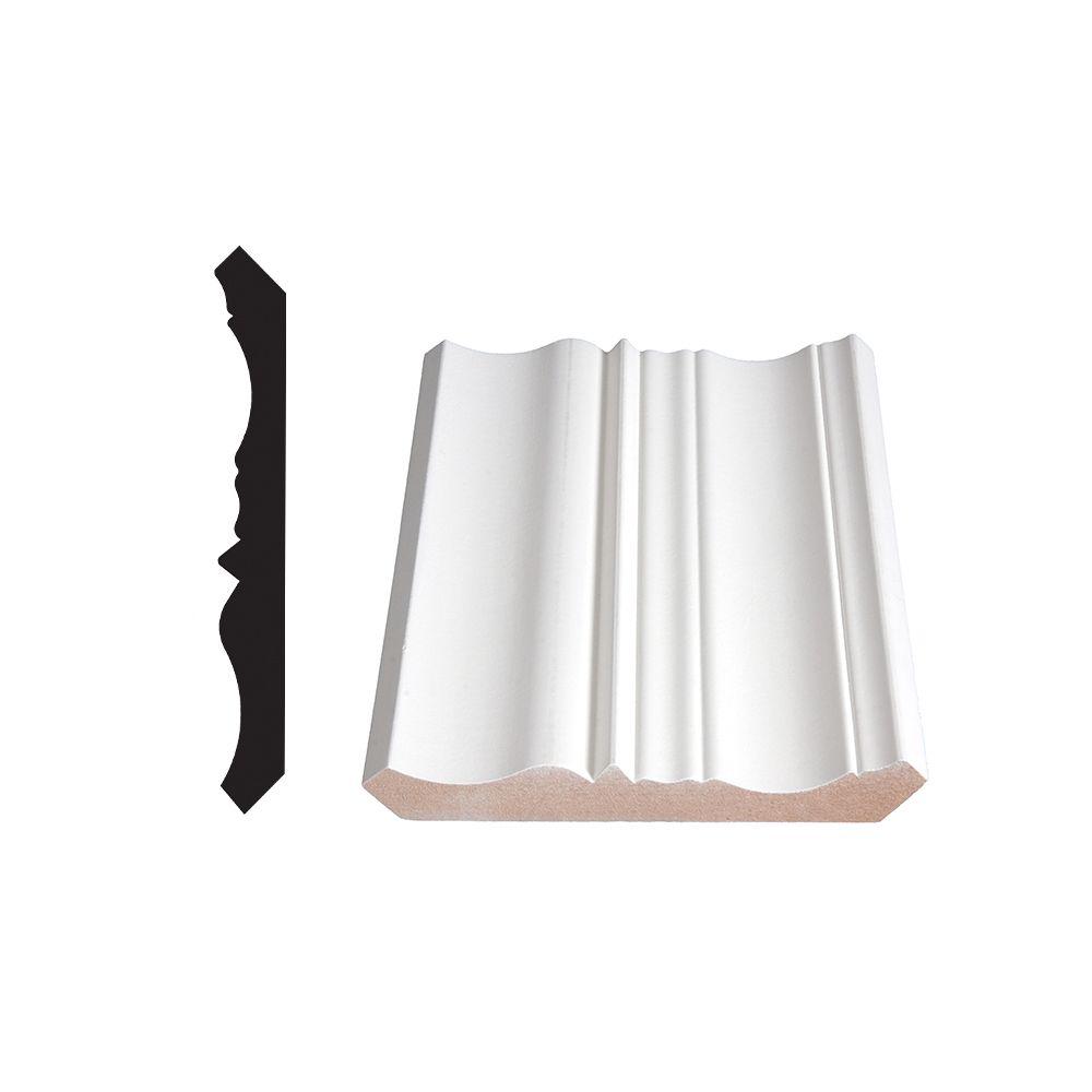 Primed Fibreboard Crown 3/4 In. x 5-15/16 In. (Price per linear foot)