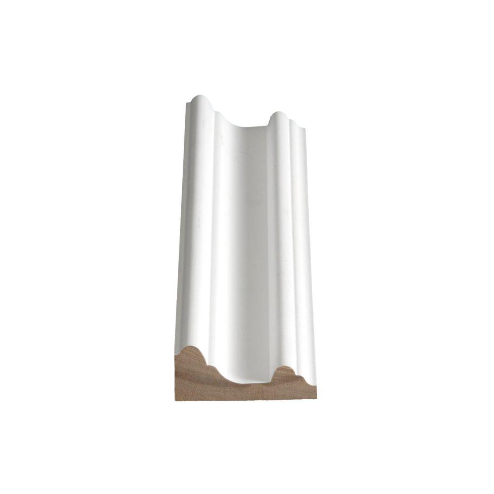 Cimaise de protection jointée et apprêtée, en pin - 1 1/16 x 2 3/8 (Prix par pied)
