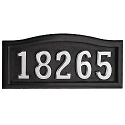 SoftCurve Black Cast Aluminum Address Plaque