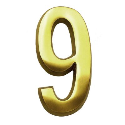 4 In. Brass Number 9