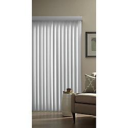 Designview Ensemble de store vertical de 8,9cm (3½po) (lisse), Blanc, 198.12cmx213cm (Largeur réelle 198.12cm)