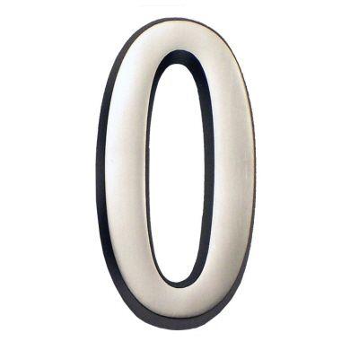 Chiffre 0 de 4 po en nickel