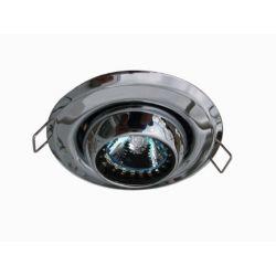Eurofase Mini luminaires cylindriques à encastrer à globe oculaire, Chromé