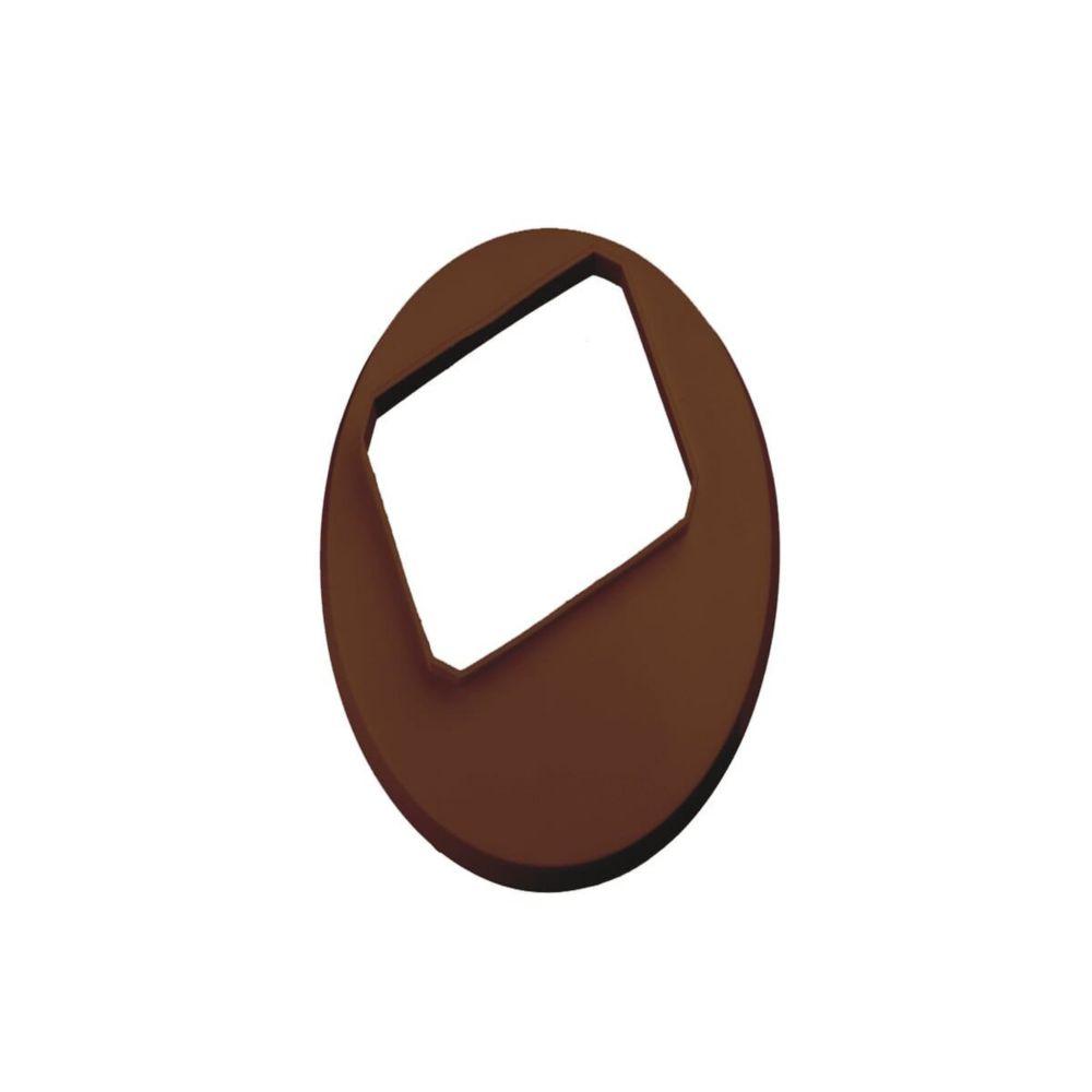 Couvercle de tuile 2 pouces x 3 pouces - brun