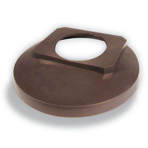 Couvercle de tuile rond 2 pouces  - brun