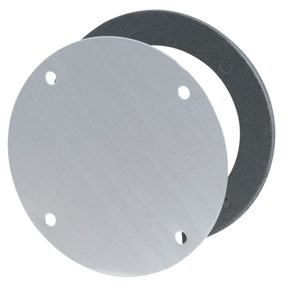 Round Blank Outdoor Cover, Silver