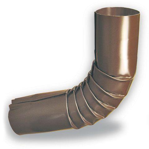 Coude rond de 2 pouces pour gouttière d'aluminium  - Brun
