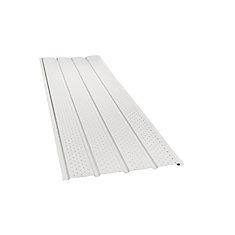 H2GO Rainwear 16-inch x 10 ft. Aluminum Vented Soffit in White