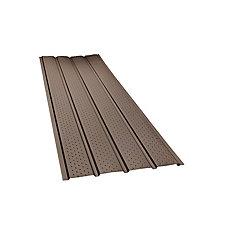 H2GO Rainwear 16-inch x 10 ft. Aluminum Vented Soffit in Brown