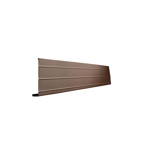 Peak Products Bordure d'avant-toit, 1 po. X 6 po. X 10 pi. - Brun