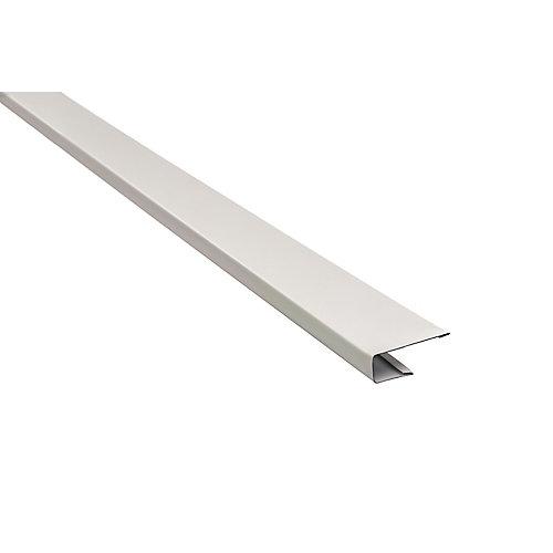 Aluminum J-Trim - White - 10 Feet