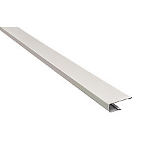 Aluminum J-Trim - White - 10 Feet