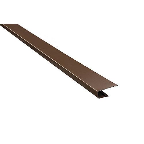 Aluminum J-Trim - Brown - 10 Feet