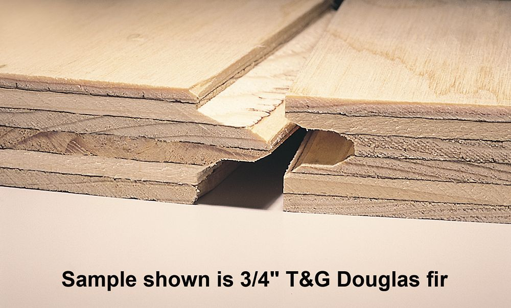 3/4 inches 4 ftx8 ft Standard Spruce Plywood Tongue & Groove