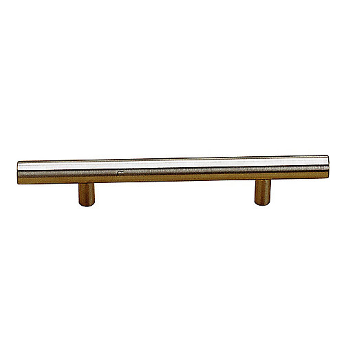 Contemporary Stainless Steel Handle Pull 10 1/8 in (257 mm) CtoC - Tivoli Collection