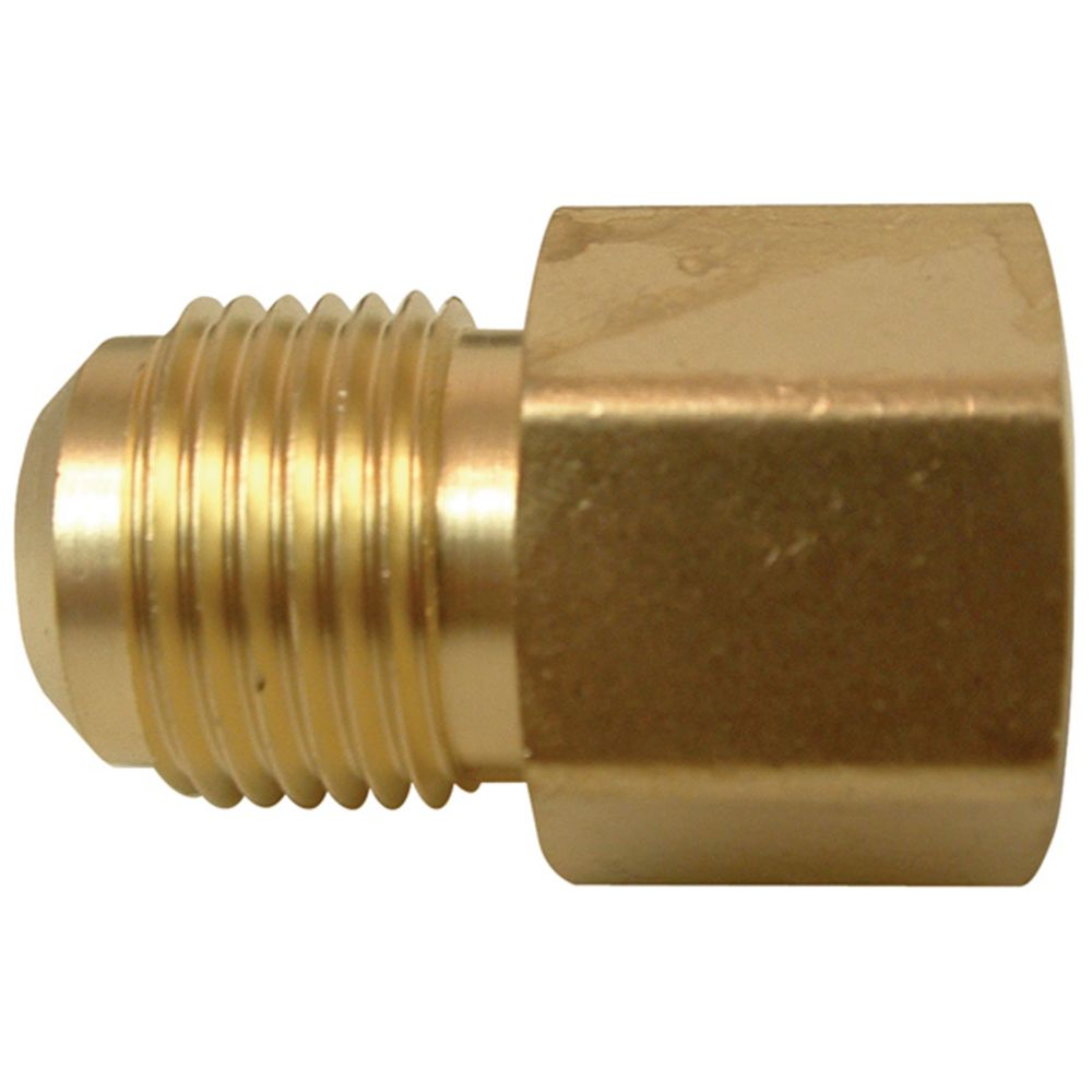 Watts brass flare to female pipe coupling