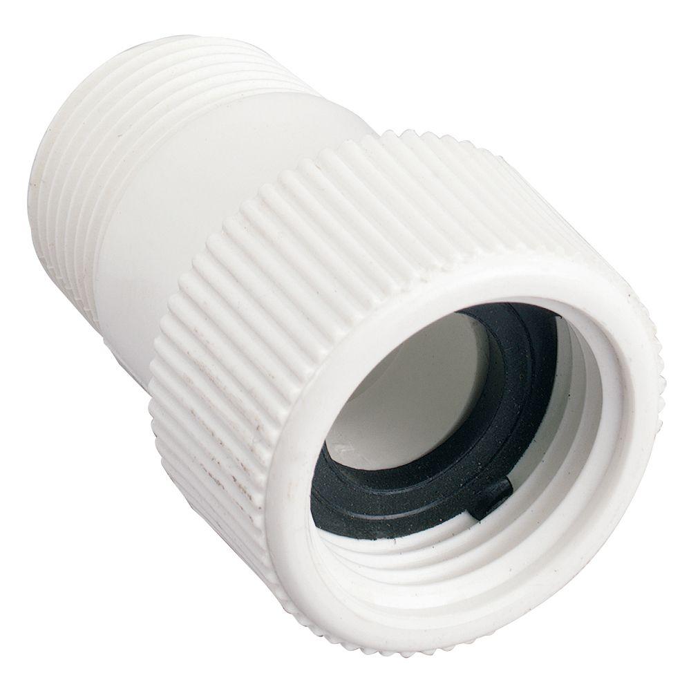 Raccord pivotant en PVC 3/4 po MNPT x FHT