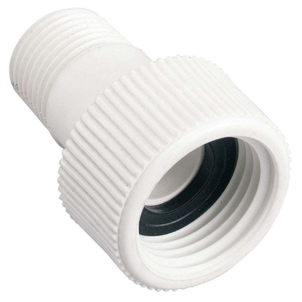 1/2 Inch MNPT X 3/4 Inch FHT PVC Swivel