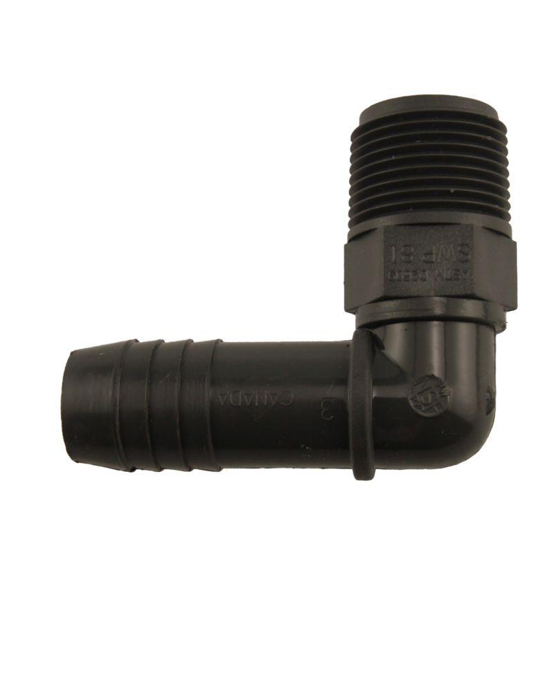 Pro-Connect Coude Mâle En Pvc- 3/4 Pouce Mpt X 3/4 Pouce Ins
