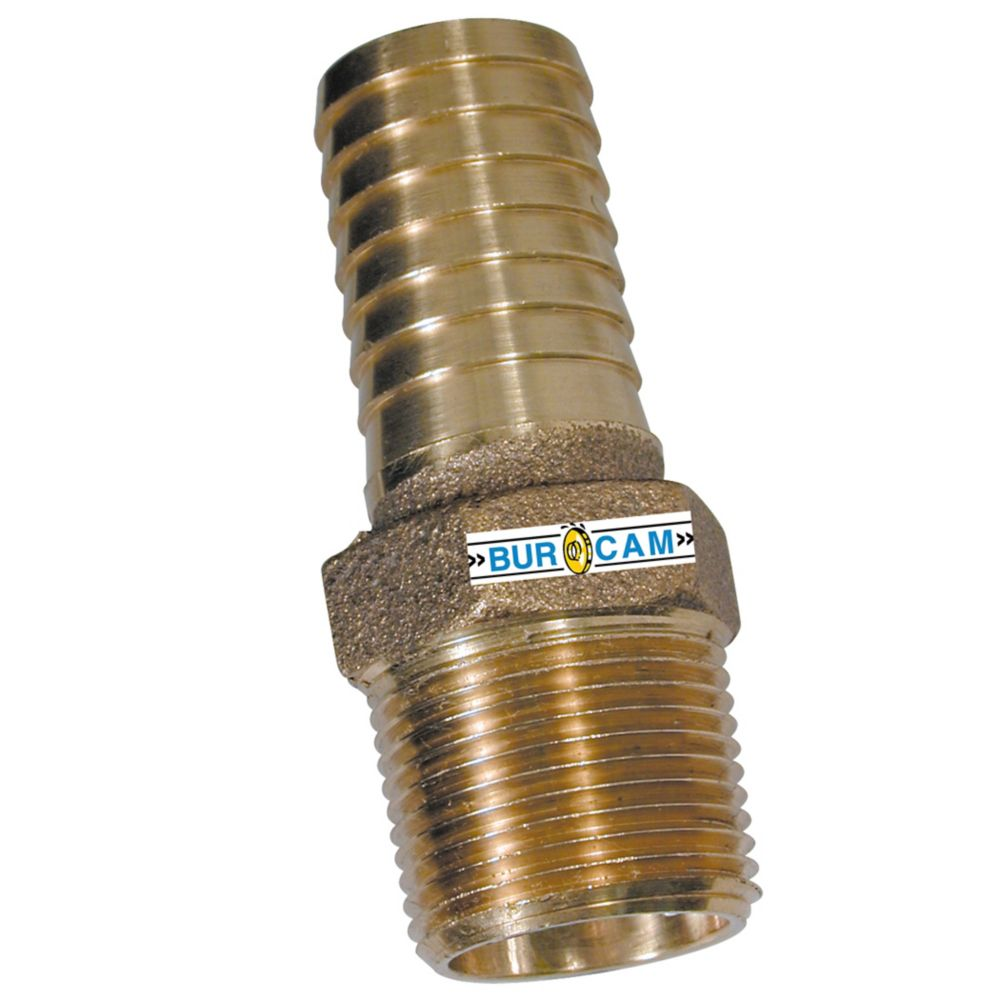 Bur-Cam 1 Npt X 1 B Bronze Adapter